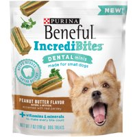 Purina Beneful IncrediBites Dental Minis Peanut Butter Flavor Dog Treats (Various Sizes)