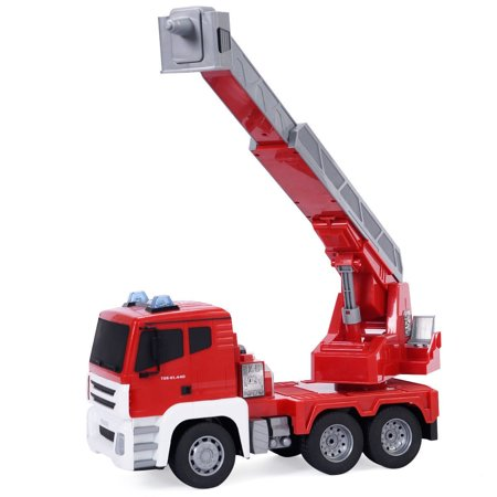 - 1/18 5CH Remote Control Rescue Fire Engine Truck w/Extending Ladder