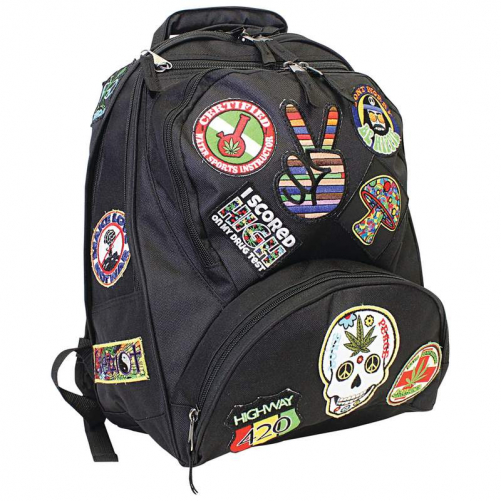 """Be A Rebel 17"""" Hippie Backpack with 15 Patches by Supplier Generic"""
