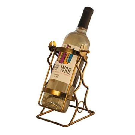 Theopwine Single Bottle Swinging Wine Bottle Holder Comes In Gift