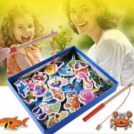 Children Kids Fishing Game Magnetic Fish Rod Toy Set Preschool Toy](Preschool Halloween Indoor Games)