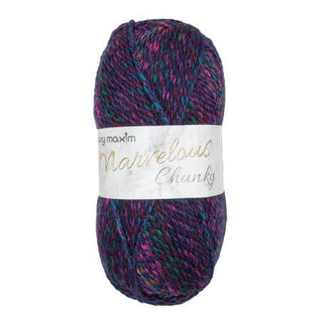 "Mary Maxim Marvelous Chunky Yarn ""Jazzy Blues"" 