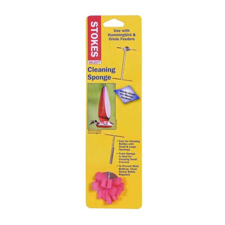 , Feeder Cleaning Sponge, EA, Use with Hummingbird and Oriole feeders. Works great on nectar feeders. Easy for cleaning bottles with small and large.., By Hiatt Manufacturing