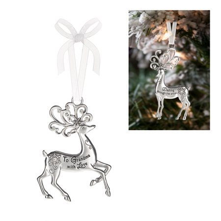Prancing Reindeer Ornament: To Grandma With Love - By Ganz
