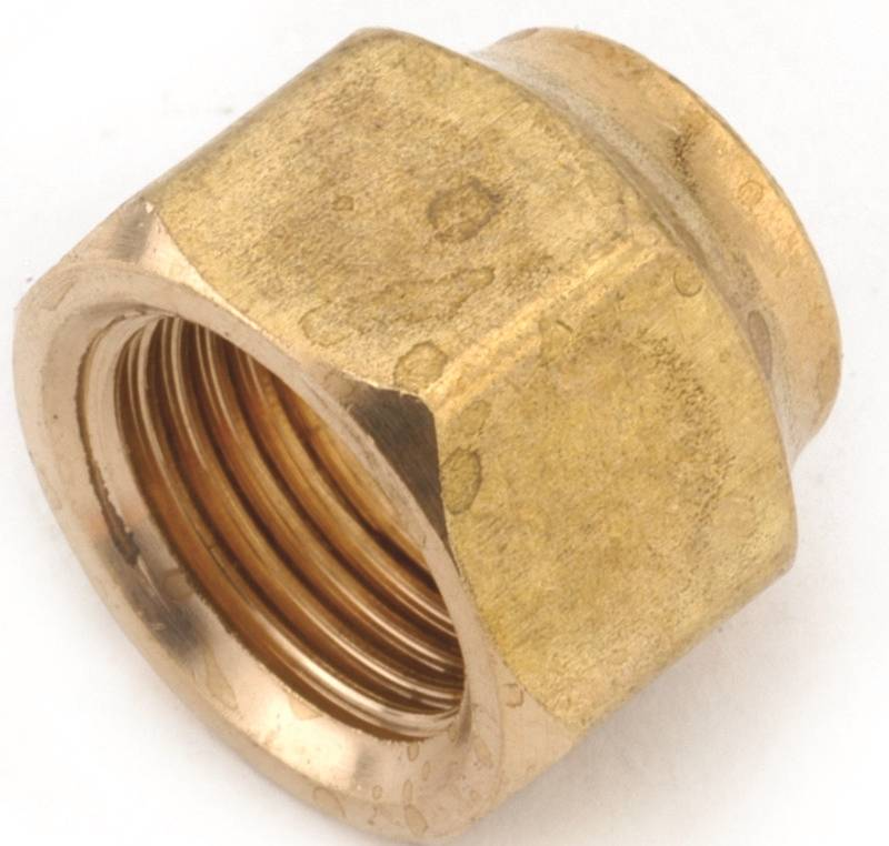 AMC 754018-06 Short Forged Flare Nut, 3/8 in, 1000 psi, -65 TO 250 deg F, Brass