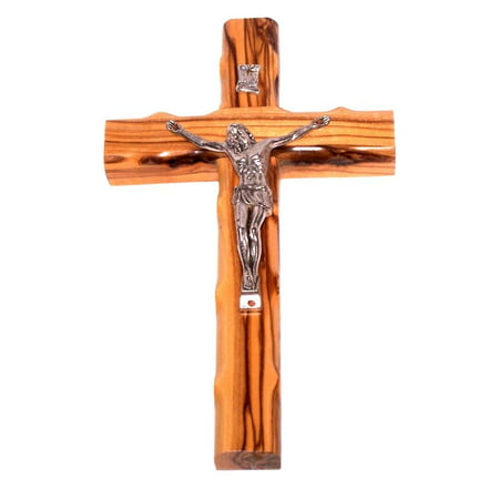 Olive Wood Cross with Crucifix (6.25