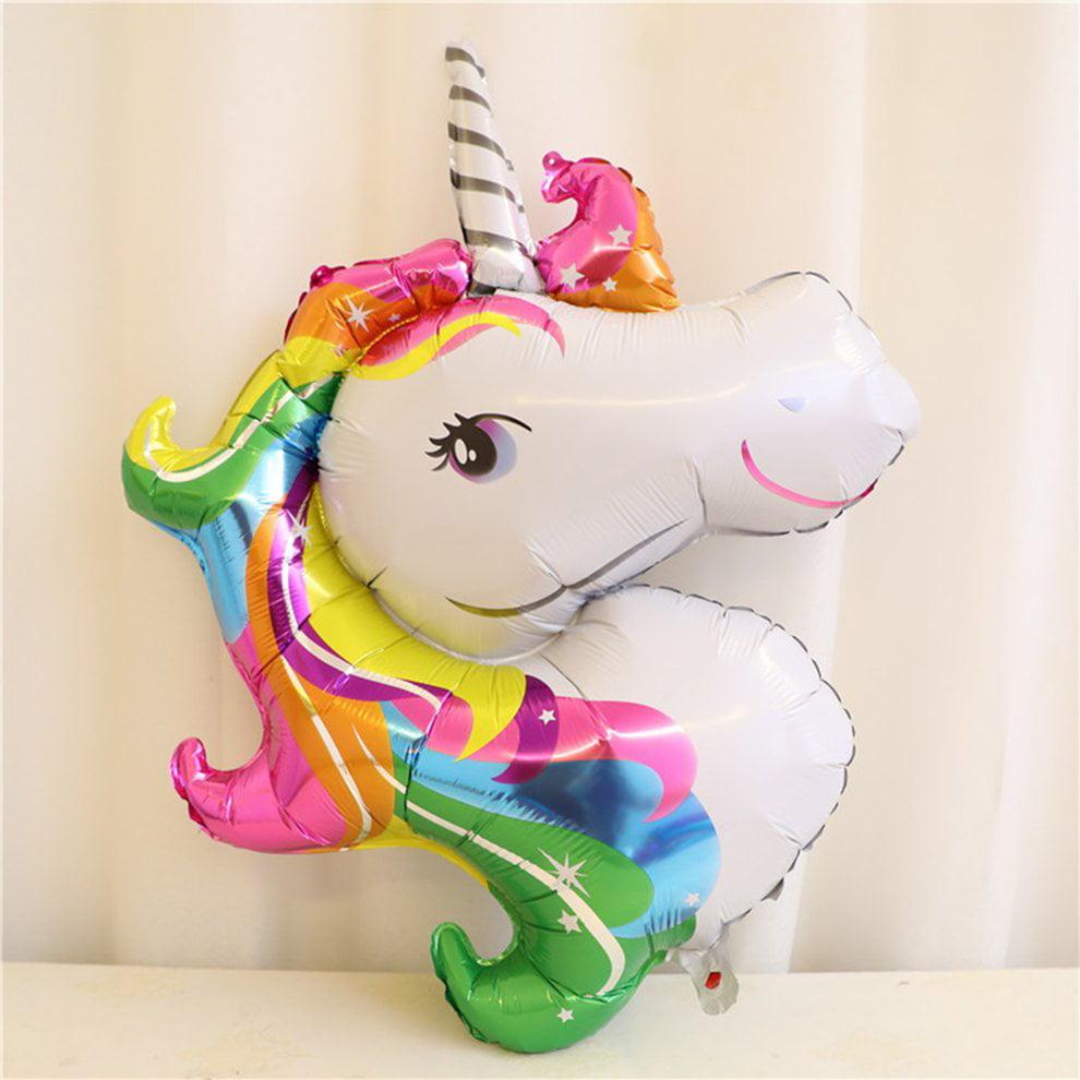 Rainbow Festival Party Supplies Rainbow Unicorn Shape Foil Balloon Air Mylar Ballons Event Party Wedding Decor