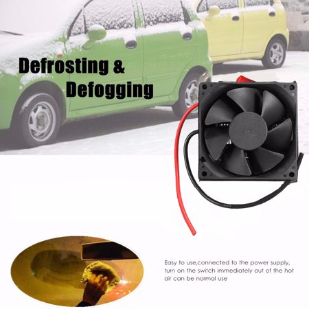 Adjustable 12v 300w 80℃ Dual Switchs Auto Car Mute Heating Fan Heater Windscreen Defroster Demister Color:black - image 7 of 12