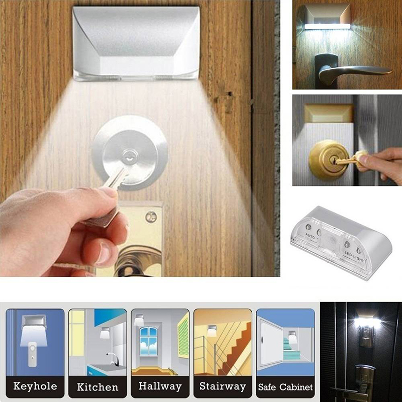 Lighting Basement Washroom Stairs: Mini Wireless LED PIR IR Auto Motion Sensor Night Light
