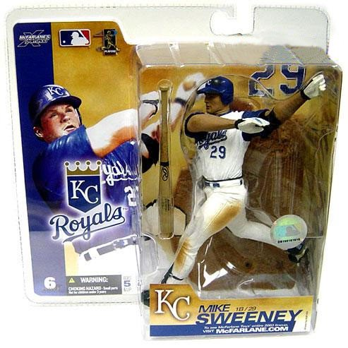 McFarlane MLB Sports Picks Series 6 Mike Sweeney Action Figure [White Jersey Variant]