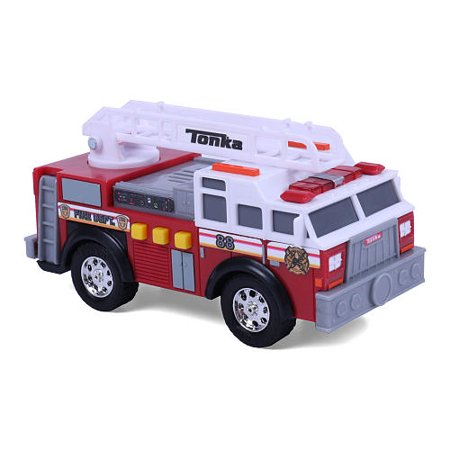 Tonka Lights and Sounds Toughest Mini Singles - Fire Ladder Truck (Large Tonka Fire Truck)