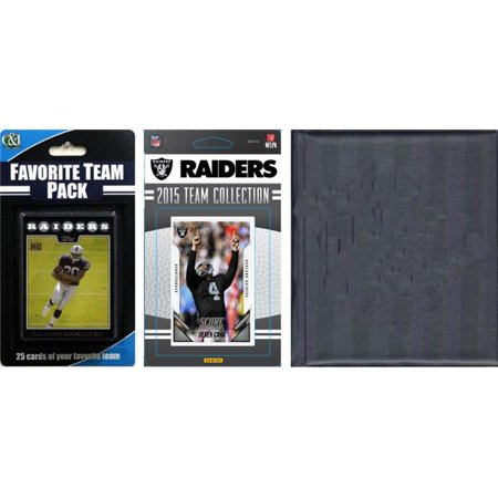 C&I Collectables NFL Oakland Raiders Licensed 2015 Score Team Set and Favorite Player Trading Card Pack Plus Storage Album