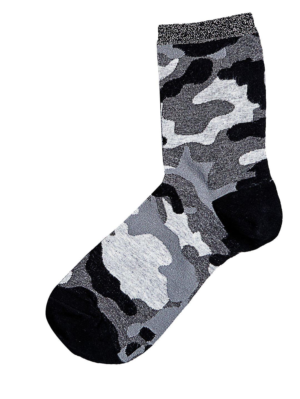 Metallic Top Camouflage Shortie Socks