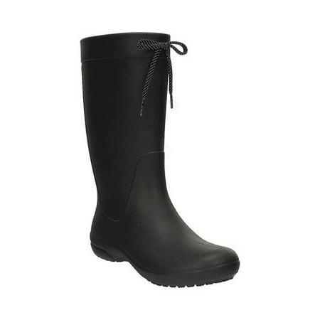 Crocs Freesail Rain Boot Women  Round Toe Synthetic  Rain Boot (Crocs Womens Boots)