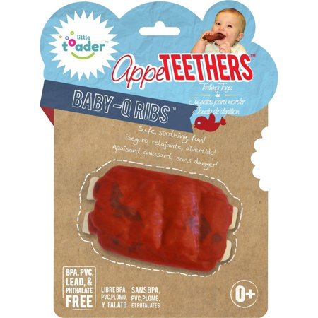 Little Toader Appe TEETHERS Teething Toys, Baby-Q Ribs