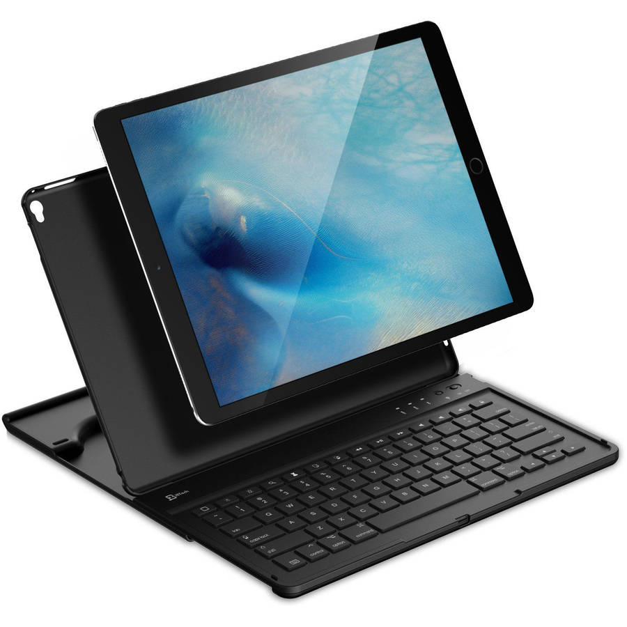 "SuprJETech Apple iPad Pro 12.9"" Wireless Bluetooth Keyboard Case with Multi-Angle Stand"