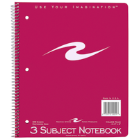 Wirebound Notebook 3 Subject College Ruled - Quantity of 24 - PT -  10059