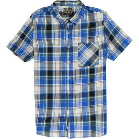 United By Blue Men's S/S Springer Plaid Shirt Blue/Tan XL - image 1 de 1