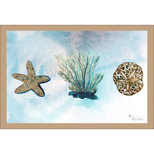 Betsy Drake Interiors Coastal Coral Doormat
