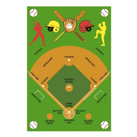 Fun Rugs Baseball Field Kids -