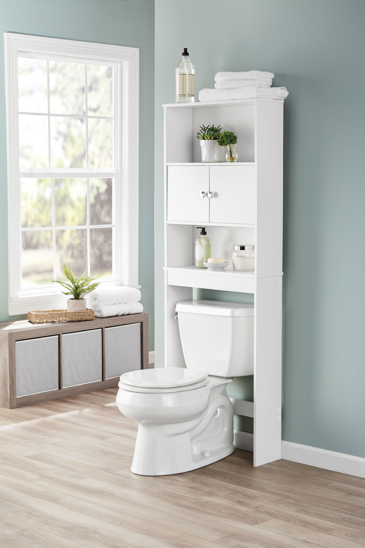 Over The Toilet Storage Organizer Wood Bathroom Space ...