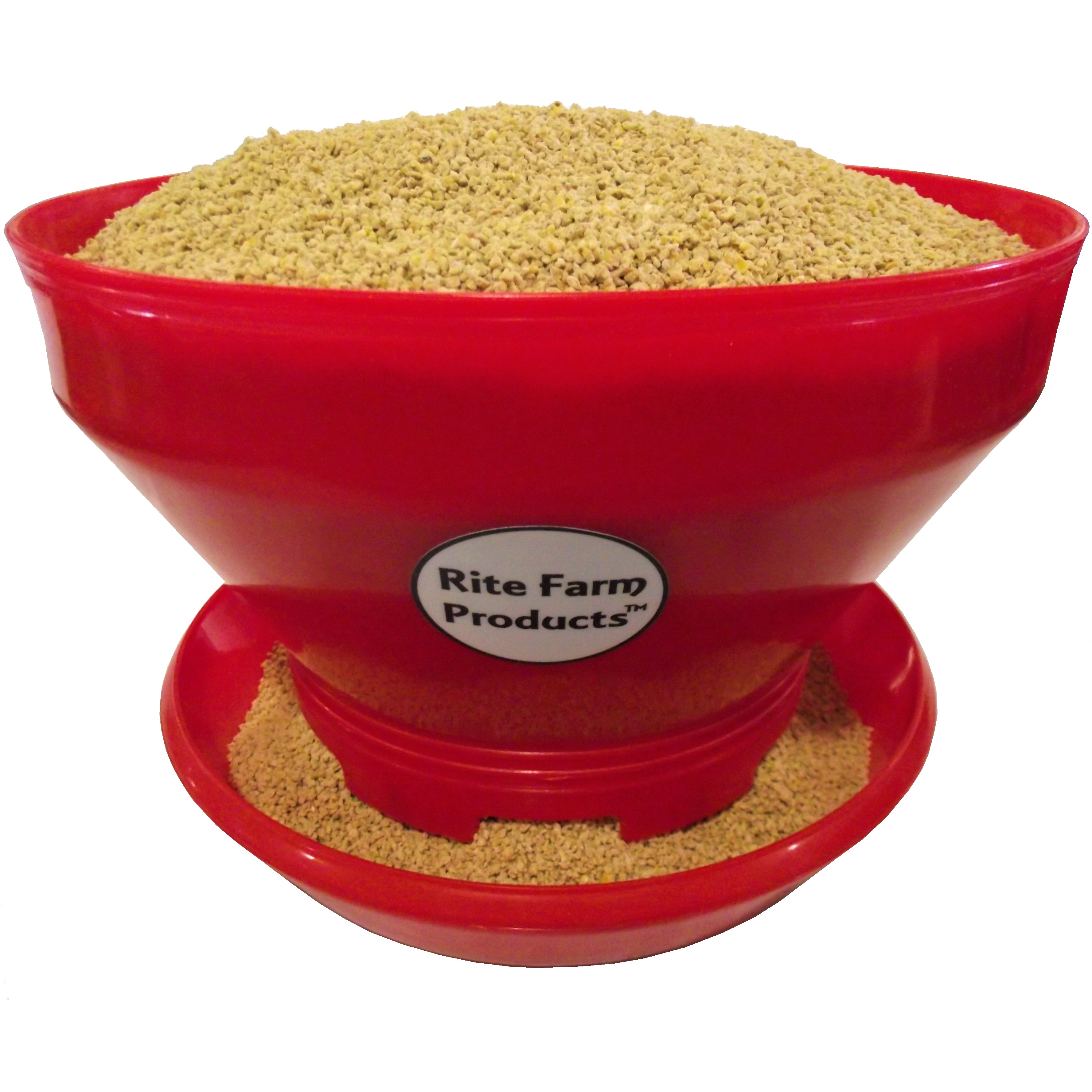 1 RITE FARM PRODUCTS TURBO PRO 10# CAPACITY BABY CHICK FEEDER POULTRY CHICKEN