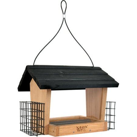 Way Hopper - Nature's Way BWF28 3 Quart Bamboo Hopper Bird Feeder With Suet Cages