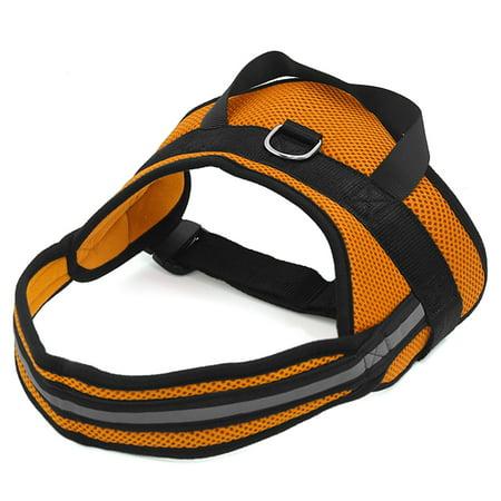 Big Dog Soft Mesh Reflective No Pull Harness Xl Adjustable Pet Walk Vest Safe Control Collar Orange