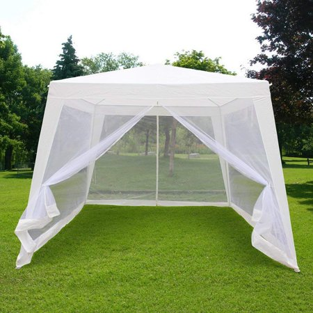 10 X10 7 9 X7 Outdoor Trapezoid Canopy Party Tent Gazebo Screen House Sun Shade Shelter With Fully Enclosed Mesh Side Wall
