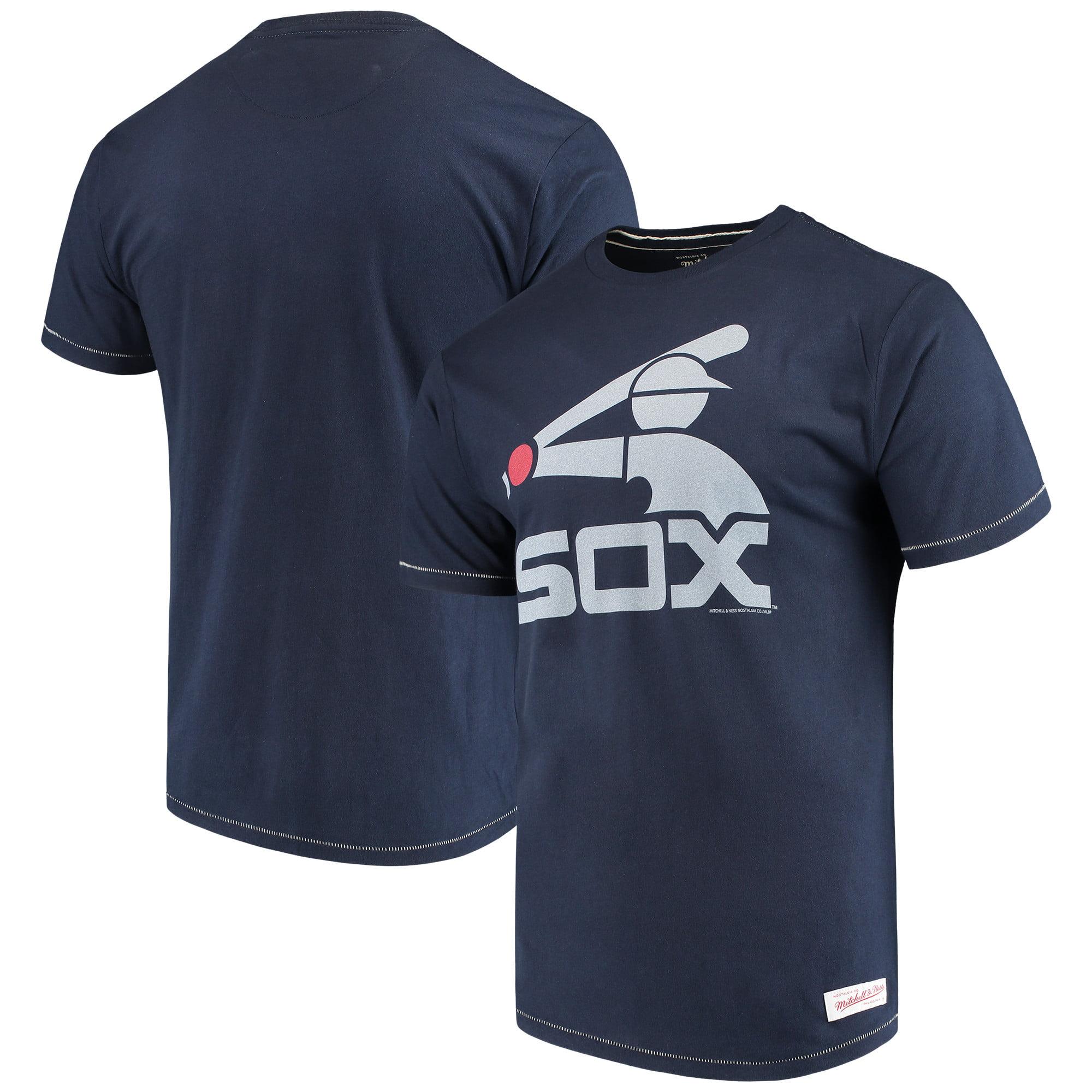 Chicago White Sox Mitchell & Ness XL Logo Tailored T-Shirt - Navy