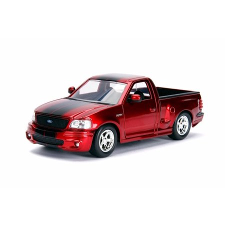 1999 Ford F-150 SVT Lightning Pickup Truck, Red - Jada 30357WA1 - 1/24 Scale Diecast Model Toy Car ()