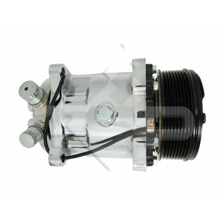 Serpentine Clutch - TSP A/C COMPRESSOR - CHROMED SERPENTINE-BELT SANDEN 508 R134A TYPE, BLACK CLUTCH HC5002C