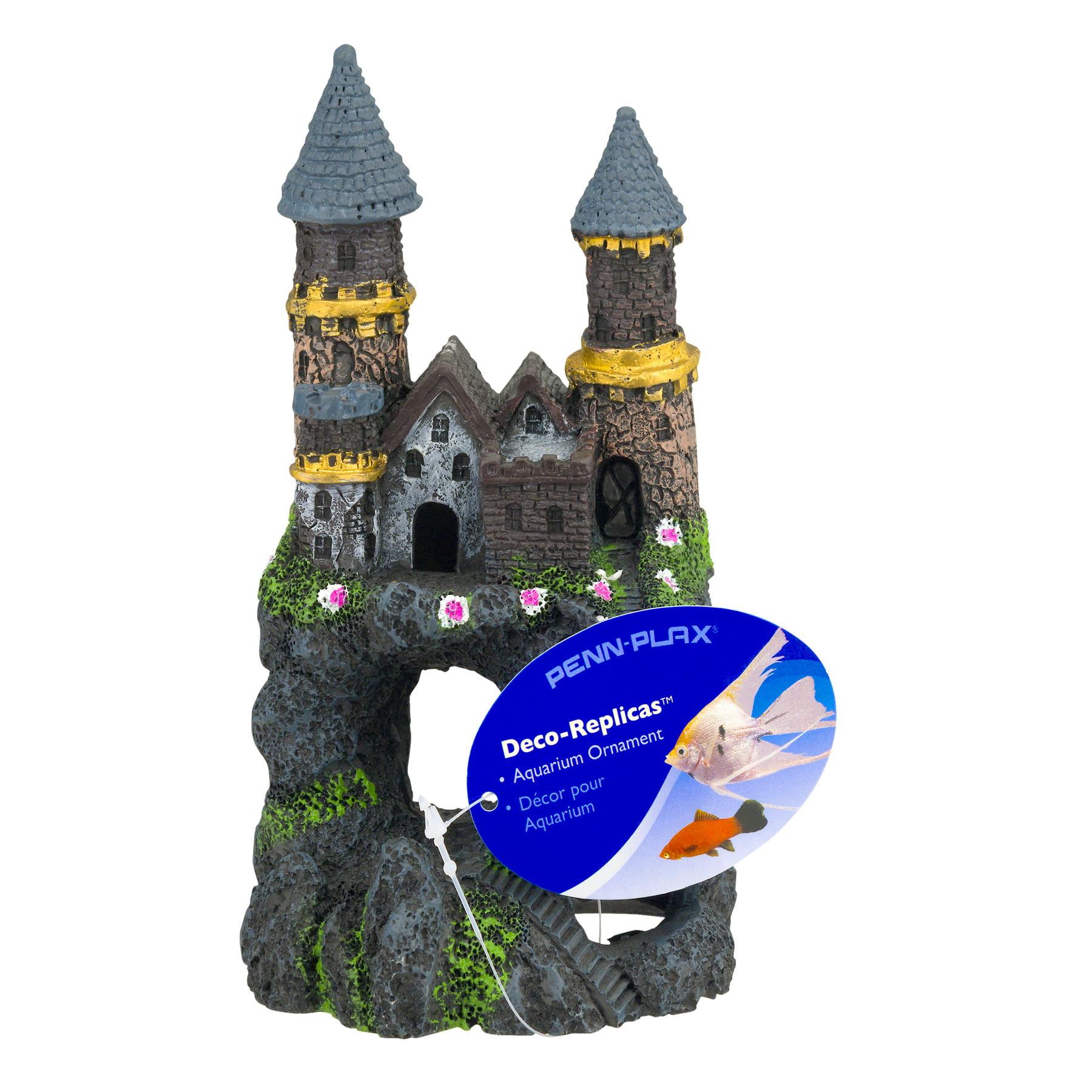 Penn-Plax Deco-Replicas Enchanted Castle Aquarium Ornament, Small