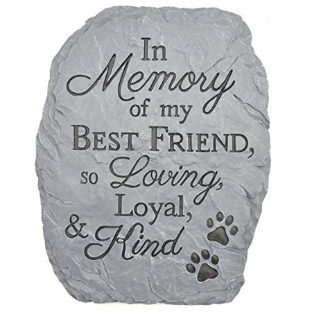 carson home accents resin stepping stone plaque memory of best
