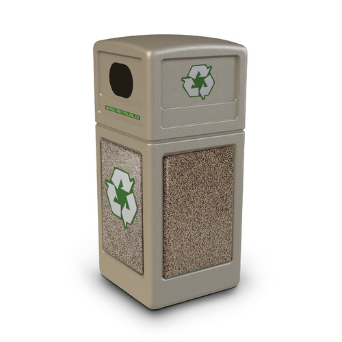 Commercial Zone StoneTec  42 Gallon Recycling Bin