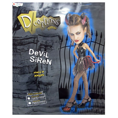 Disguise Womens 'Deceptions Devil Siren' Halloween Costume - Sea Siren Halloween Costume