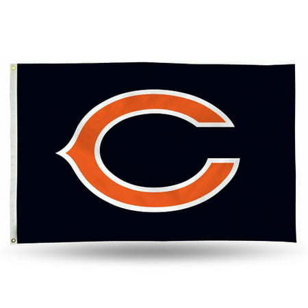 Rico Industries NFL 3' x 5' Banner Flag, Chicago Bears