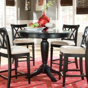 American Drew Camden Black Bar Height Pedestal Table