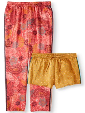 Secret Treasures Women's and Women's Plus Satin Sleep Short and Pant Set