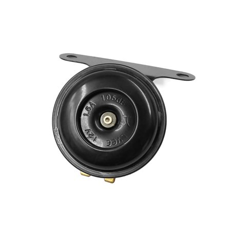 Universal Black Round Loud Horn 12V 1.5A for Scooter Moped Dirt ATV Motorcycle