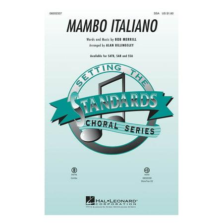 Hal Leonard Mambo Italiano (SSA) SSA by Rosemary Clooney arranged by Alan -