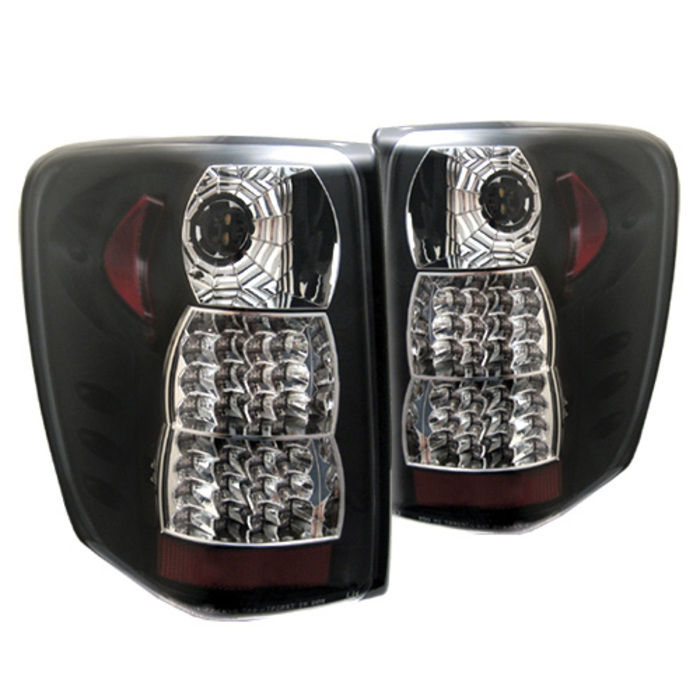 Spyder Jeep Grand Cherokee 99-04 ( LED Indicator ) LED Tail Lights - Black