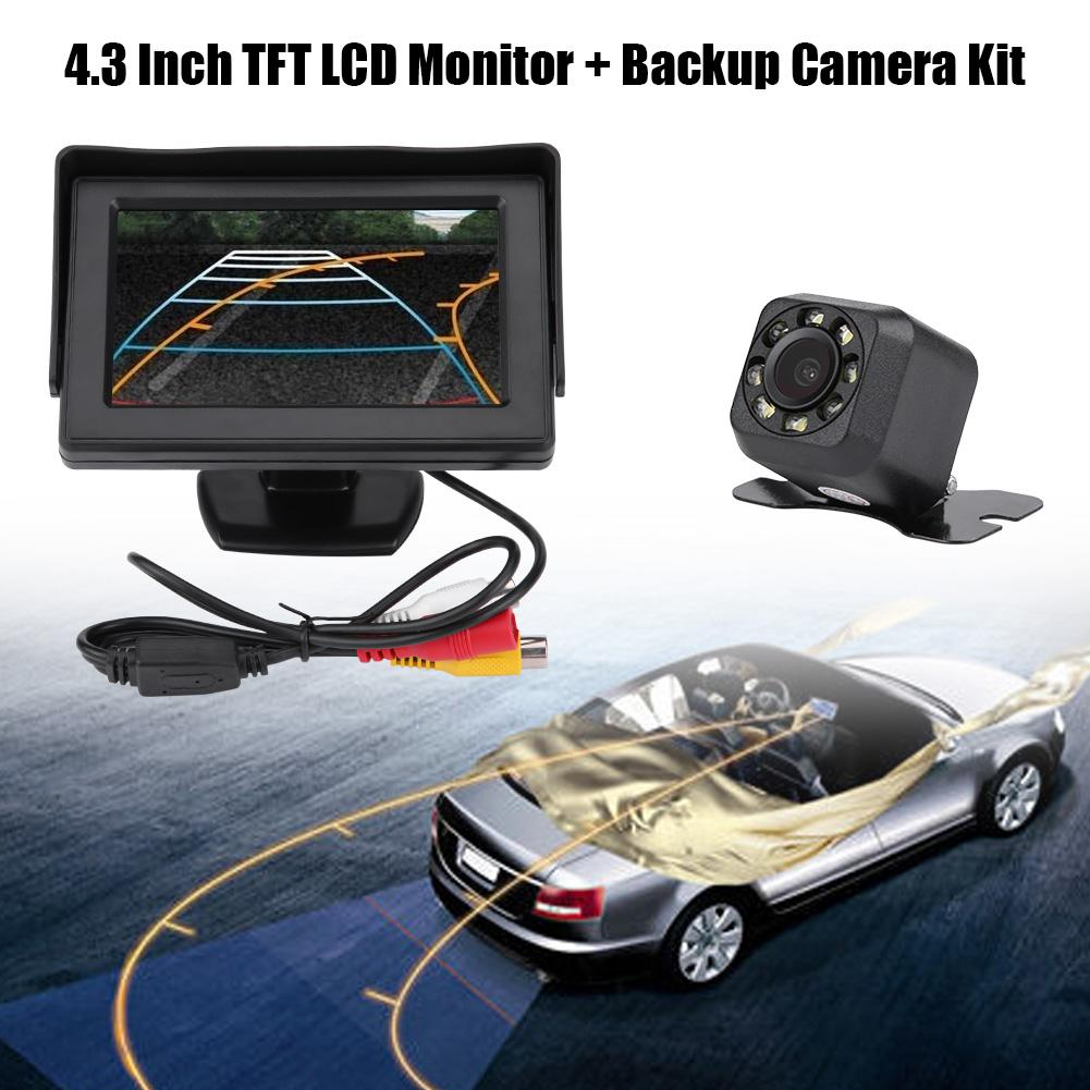 "Wireless Backup Camera for Parking System 4.3/""TFT LCD Color Car Mirror Monitor"