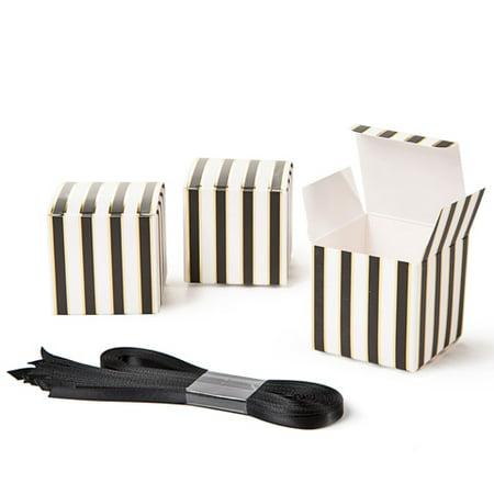 David Tutera Small Black & White Striped Favor Boxes: 25 pieces](David Tutera My Fair Wedding Halloween)