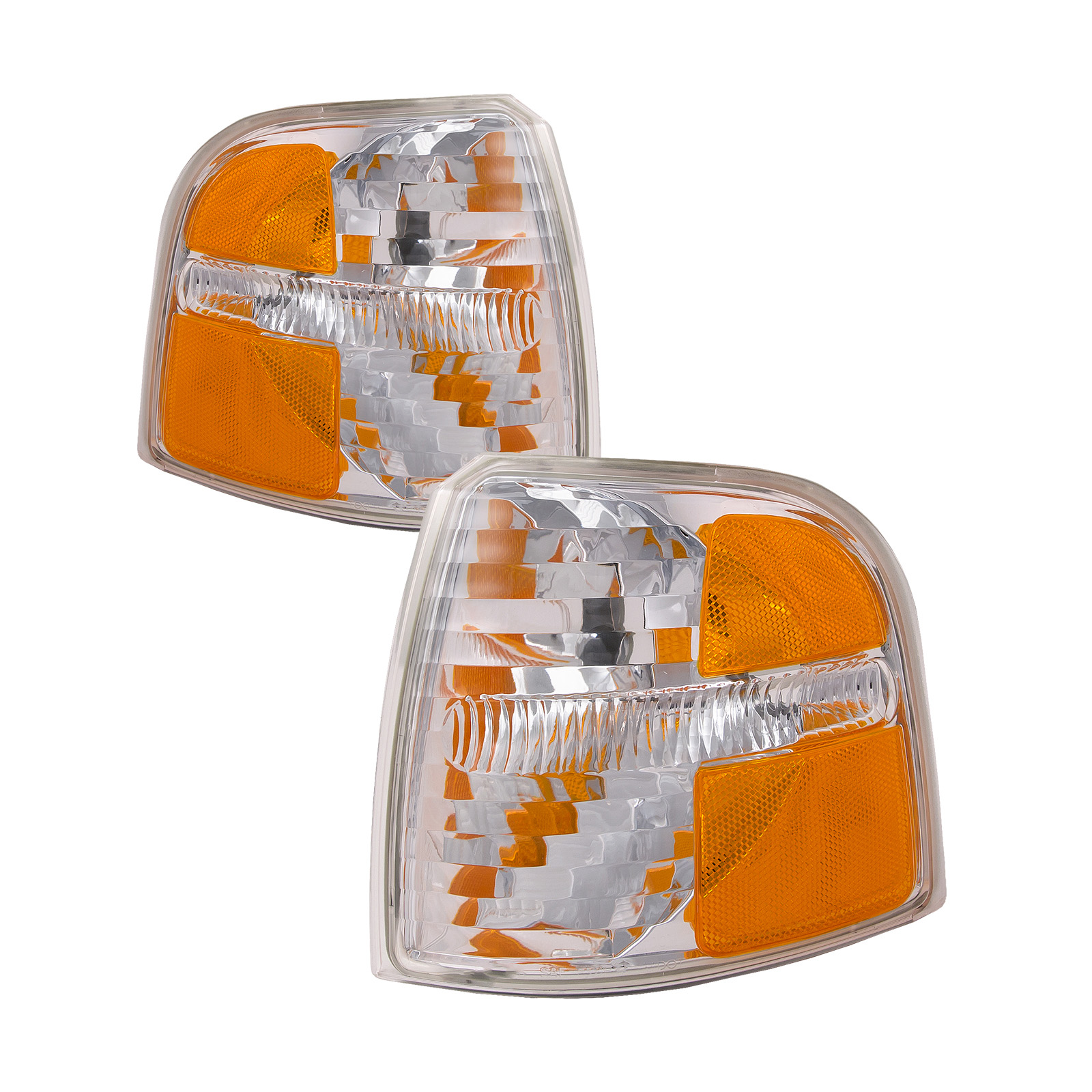 2004-2005 Ford Explorer New Park Signal Lights Set Driver Left Passenger Right Pair Assembly FO2520181 & FO2521181