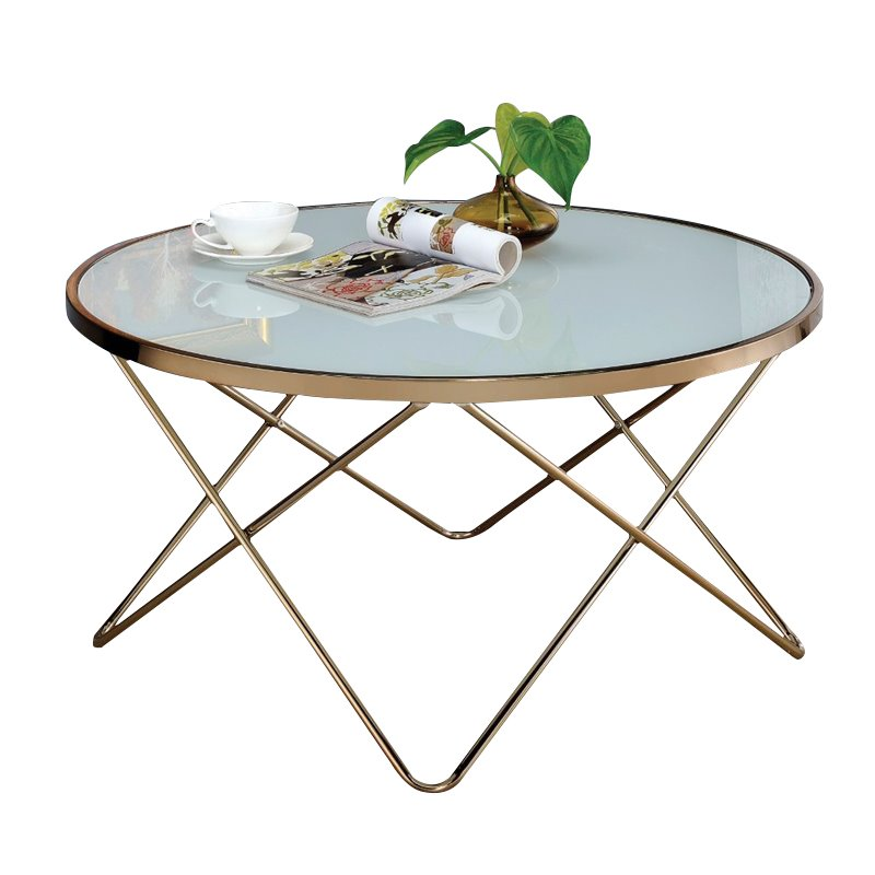 Genial Bowery Hill Coffee Table In Frosted Glass And Champagne   Walmart.com