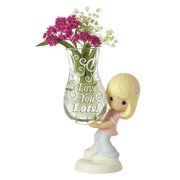 Precious Moments Love You Lots! Girl with Bud Vase Figurine #154005