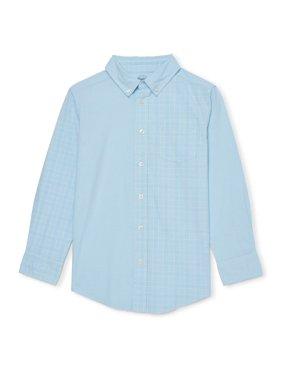 Wonder Nation Boys Long Sleeve Button Down Shirt
