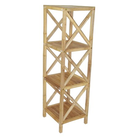 Cottage Square Rack (Bamboo54 4-Tier Square Bamboo)