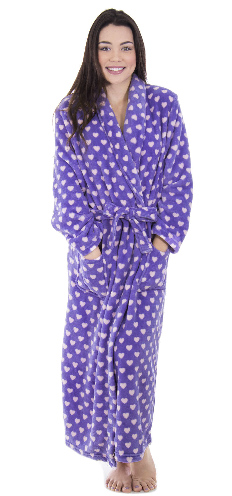 Simplicity Women Luxury Plush Velvet Bathrobe Shawl Collar Robe Sleepwear Housecoat Walmart Com Walmart Com
